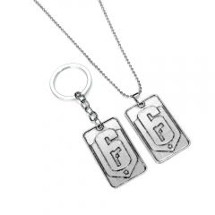Game Tom Clancy's Rainbow Six Siege Logo Choker Necklace Keyring Key Chain Charm Gift