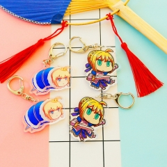 5pcs/set Anime Fate Stay Night Acrylic Keyring Grand Master Fate/Grand Order Matthew FGOsaber Key Chain Charm Jewelry drop-shipping