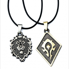 Game WOW World of Warcraft Lion Logo Heartstone Symbol Pendant Necklace