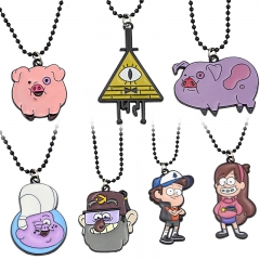 7 types Anime cartoon Gravity Falls Figure Logo Choker Necklace pendant charm jewelry for children Birthday Gift