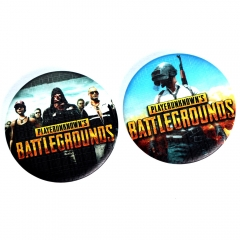 2 type Game Playerunknown's Battlegrounds Logo Badge School Bag Brooch Cosplay Cool Pin Collection Charm Gift