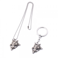 Game LOL New Hero Kindred The Eternal-Hunters Symbol Mask Choker Necklace Pendant Keychain