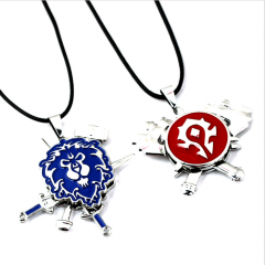 Game World Of Warcraft Alliance Horde Theme Symbol Rotatable Necklace