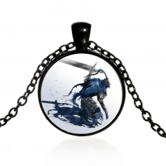4 color Game Dark souls 3 Choker Necklace Glass Pendant Vintage Charm Cosplay Jewelry