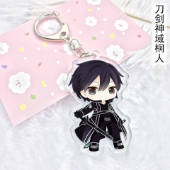 4 type Anime Sword Art Online Keychain SAO Asuna Kirito Yui Cute Acrylic Keyring Charm Cosplay Anime Exhibition Jewelry gift