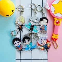 12 types Anime YURI!!! on ICE Keyring Yuri Victor Acrylic Keychain Cute Character Limited Kawaii Pendant