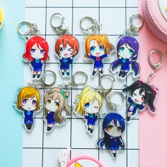 18 type Anime LoveLive! Keyring School idol project Acrylic Keychain Cute Character Nico Ellie Tojo Umi Rin Limited Kawaii Pendant