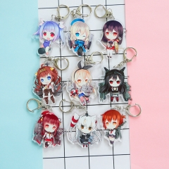 9 types Game Kantai Collection Acrylic Keychain Cosplay Bag Phone Keyring