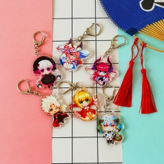 13 types Game Fate/Grand Order Acrylic Keychain FGO Kawaii Cute Character Model Cosplay Bag Phone Keyring