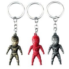 Hot Movie Spider-Man Batman 3D Model Keyring Marvel Alloy Key Holder Charm Limited Souvenir Gift