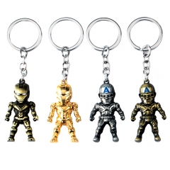 Hot Movie Iron Man Captain America 3D Model Keyring Marvel Alloy Key Chain Charm Limited Souvenir