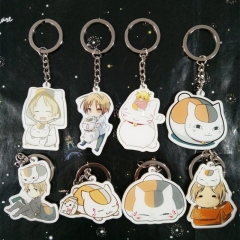 Anime Natsume's Book of Friends Acrylic Keyring Natsume Yuujinchou Nyanko Sensei White Cat Keychain Cosplay Christmas Gifts
