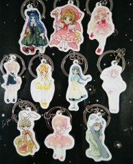 10 types Anime Card Captor Acrylic Keychain Series 2