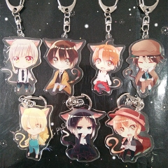 11 types Anime Bungo Stray Dogs Acrylic Keychain Figure Keyring