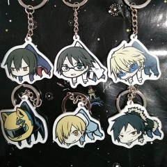 Anime Game Durarara 3way standoff DRRR Kuroko No Basketball Figure Keyring Acrylic Key Holder