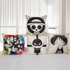 4 types Anime One Piece Pillow Case Cover Luffy Houseware