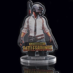 Playerunknown's Battlegrounds Acrylic Model PUBG Chicken Dinner Charm Gift Transparent Decoration Toy Souvenir