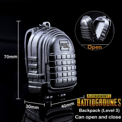 Game Playerunknown's Battlegrounds Keyring PUBG Backpack Level 3 Model Keychain
