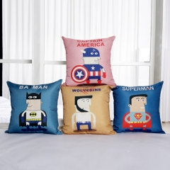 7 types Movie Super Hero Batman Superman Thor Captain America The Flash Joker Pillow Case Cover
