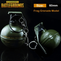 6cm Game Playerunknown's Battlegrounds Frag Grenade Keyring PUBG Model Keychain