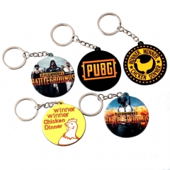 Game Playerunknown's Battlegrounds Acrylic Keyring PUBG Chicken Dinner Logo Pendant Keychain