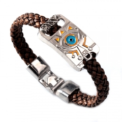Game The Legend of Zelda Breath of the Wild Eye Logo Bracelet Woven Punk Bangle