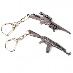 Game Playerunknown's Battlegrounds Keyring CSGO PUBG SMG AK-47 Weapon Model Key holder