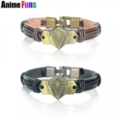Game Assassin's Creed Logo Leather Bracelet Dark Souls Punk PU Bangle for women man Wristband Charm Jewelry