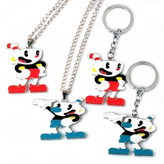 Game Cuphead Logo Choker Necklace Mugman Keyring