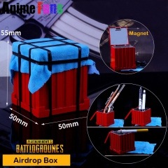 Playerunknown's Battlegrounds Airdrop Box Model Game PUBG Keyring Storage box Ashtray Charm Birthday Gift
