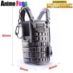 8cm Playerunknown's Battlegrounds Keyring Bulletproof Vest Model Game PUBG Keychain