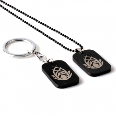 Game The Elder Scrolls Choker Necklace TES VALENWOOD Logo Keyring
