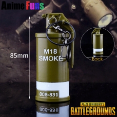 8cm Game Playerunknown's Battlegrounds M18 Smoke Grenade Model PUBG Keychain