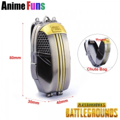 8cm Game Playerunknown's Battlegrounds Keyring PUBG Chute Bag Model Zinc Alloy Keychain