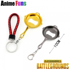 10cm Game Playerunknown's Battlegrounds Keyring Beer Bottle Opener PUBG Keychain