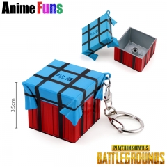 3.5cm Game Playerunknown's Battlegrounds Keyring Airdrop Box Model PUBG Keychain