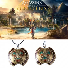 Game Assassin's Creed Origins Keyring Eagle Logo Pendant Necklace Keychain