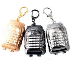 7cm Playerunknown's Battlegrounds Keyring Game PUBG Backpack Level 3 Model Keychain