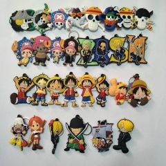 36 types Anime One Piece Silicone Keychain Limited Charm Character Cosplay Bag Keyring
