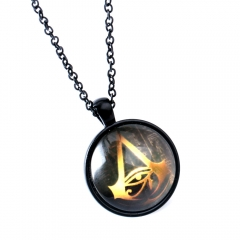 Game Assassins Creed Choker Necklace Assassin's Creed Origins Logo Glass Pendant