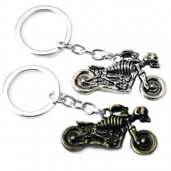 Game Playerunknown's Battlegrounds Motorcycle Model Keychain PUBG Skull Alloy Keyring