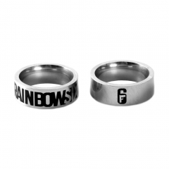 Game Rainbow Six Logo Ring Personalized Jewelry Metal Finger Ring for fan Charm Gift