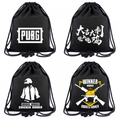 8 types Game Playerunknown's Battlegrounds Unisex Canvas School Drawstring Book Bag PUBG Logo Shoe Backpack Shopping Bags