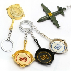 Game Playerunknown's Battlegrounds Keyring Saucepan Airdrop Aircraft PUBG Pan Keychain