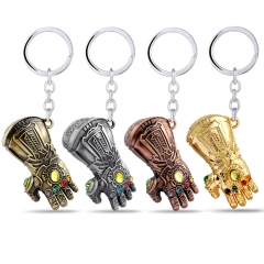 Movie Avengers Infinity War Thanos Gloves Armor Model Keyring Cosplay Costumes Infinity Gauntlet Key Holder