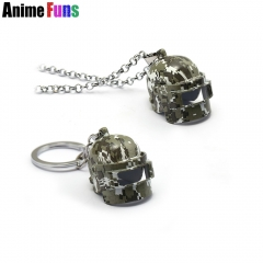 Game PLAYERUNKNOWN'S BATTLEGROUNDS Keyring PUBG Necklace Camouflage Level 3 Helmet Pendant Openable Keychain