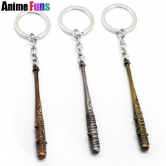 Movie The Walking Dead Keyring Negan Baseball Bat Pendant Keychain