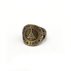 Anime Movie Gravity Falls Ring Bill Portal The Zodiac Logo Finger Ring Souvenir