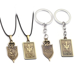 Anime CODE GEASS Lelouch of the Rebellion Choker Necklace Logo Keyring