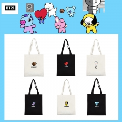 KPOP BTS BT21 Bangtan Boys Album V JIMIN JUNGKOOK Cute Canvas Backpack Book Bag